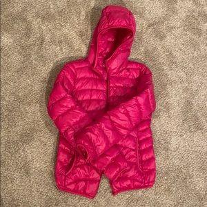 Hot Pink Uniqlo jacket